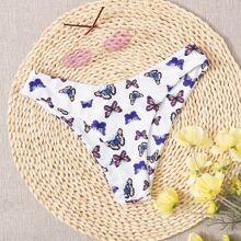 Bikini Hoschen mit Schmetterling Muster
