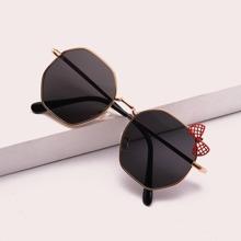 Kinder Sonnenbrille mit Schleife Dekor und metallischem Rahmen