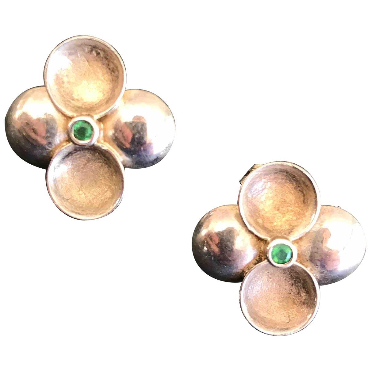 - Boucles doreilles Art Deco pour femme en argent - argente
