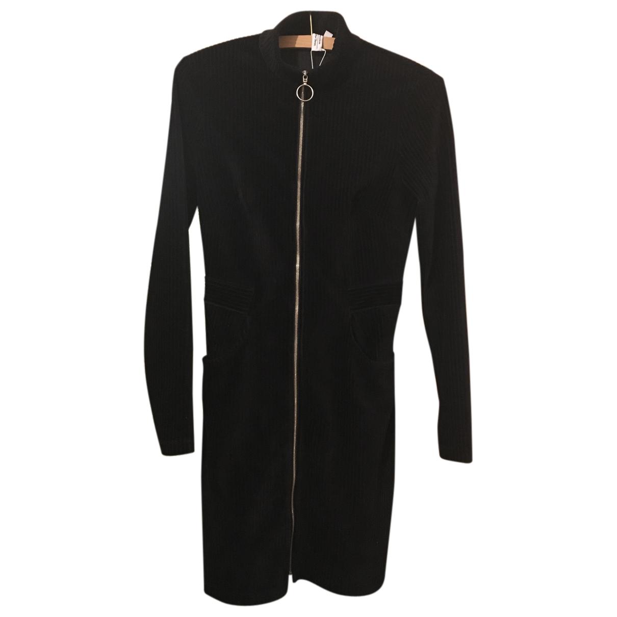 & Other Stories - Robe   pour femme en velours - noir