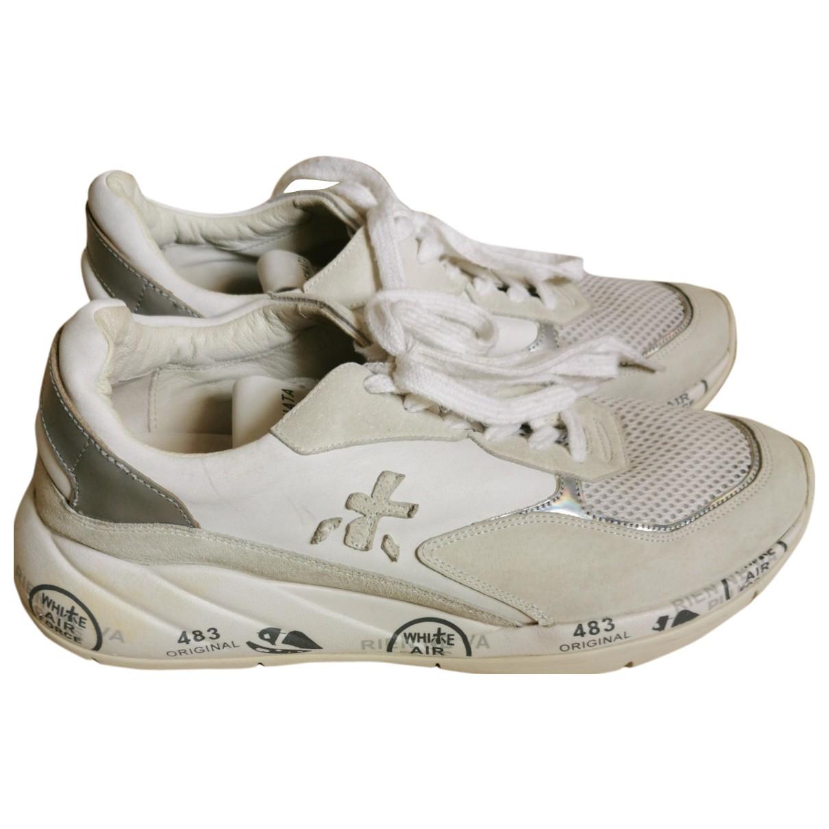 Premiata - Baskets   pour femme en cuir - blanc