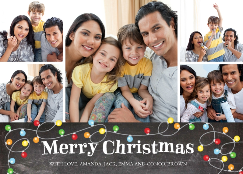Christmas Photo Cards Mail-for-Me Premium 5x7 Folded Card , Card & Stationery -Christmas Lights