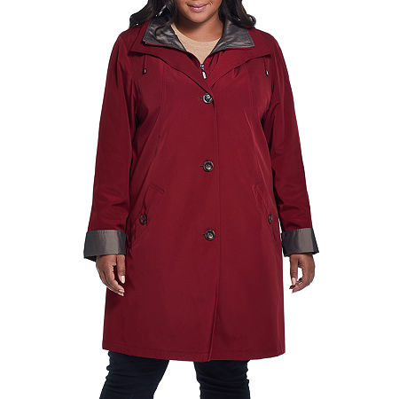 Miss Gallery Midweight Raincoat-Plus, 2x , Red