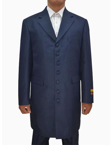 Mens Navy  Seven Button Zoot Suits