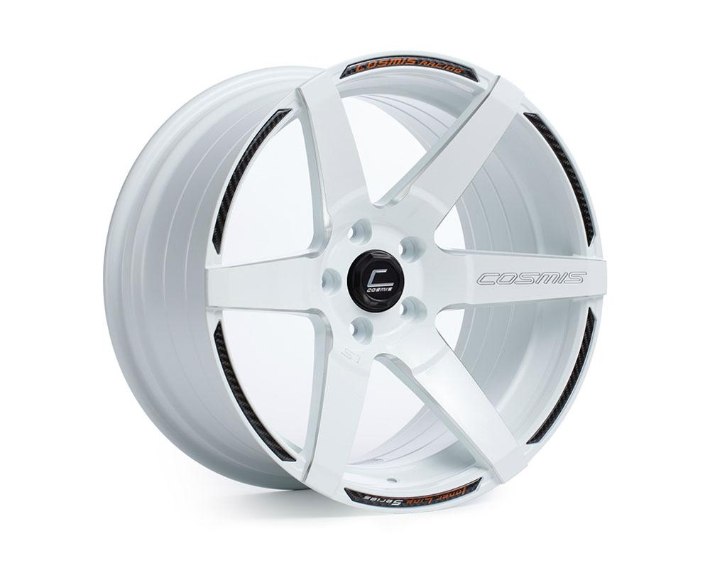 Cosmis Racing S1-1895-15-5x114.3-W S1 Wheel 18x9.5 5x114.3 +15mm White w/ Milled Spokes
