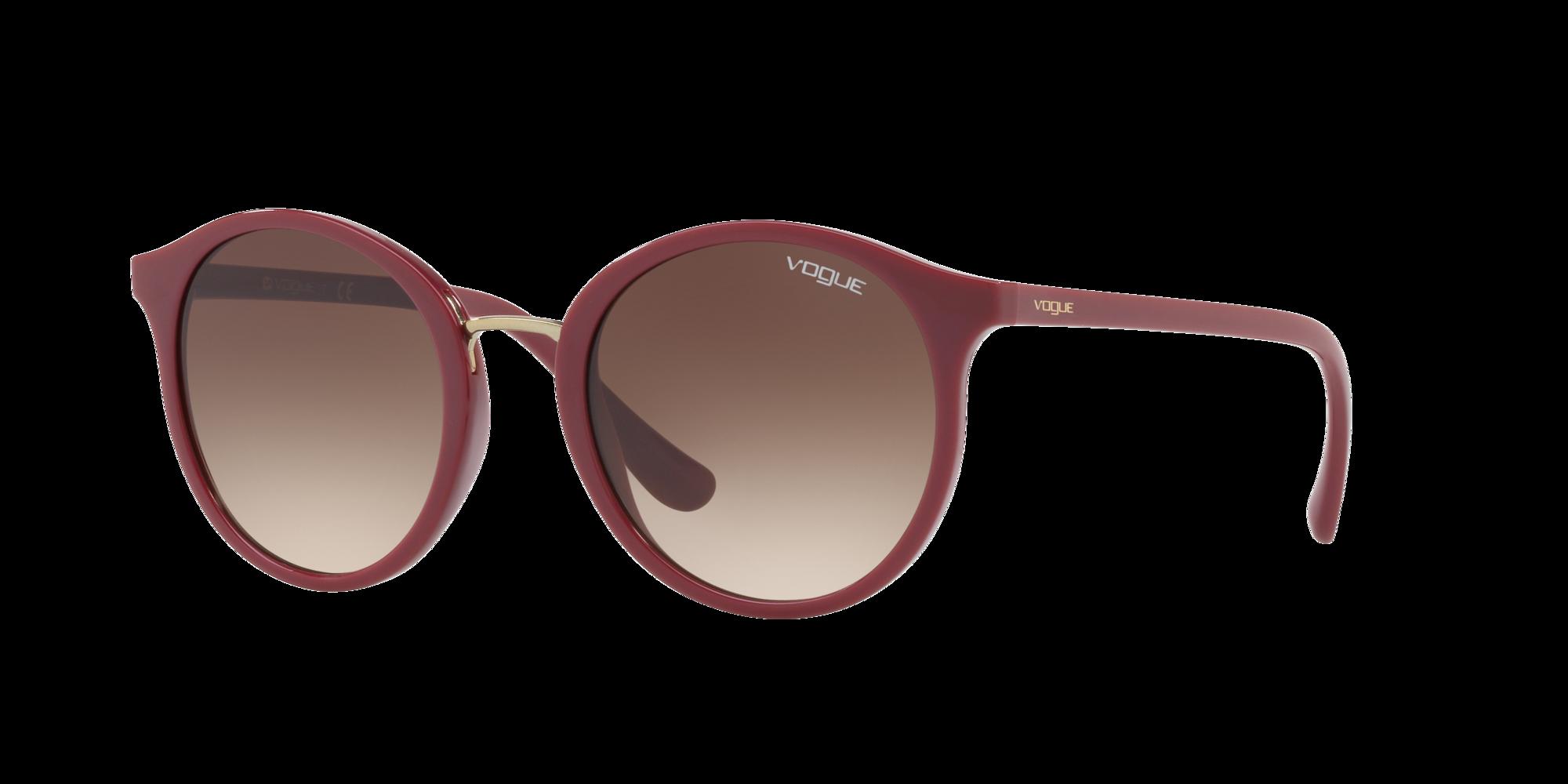 Vogue Eyewear Unisex  VO5166S -  Frame color: Rojo, Lens color: Marron, Size 51-21/140