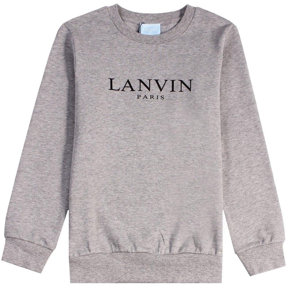 Lanvin Kids Logo Sweatshirt Navy Colour: GREY, Size: 10 YEARS