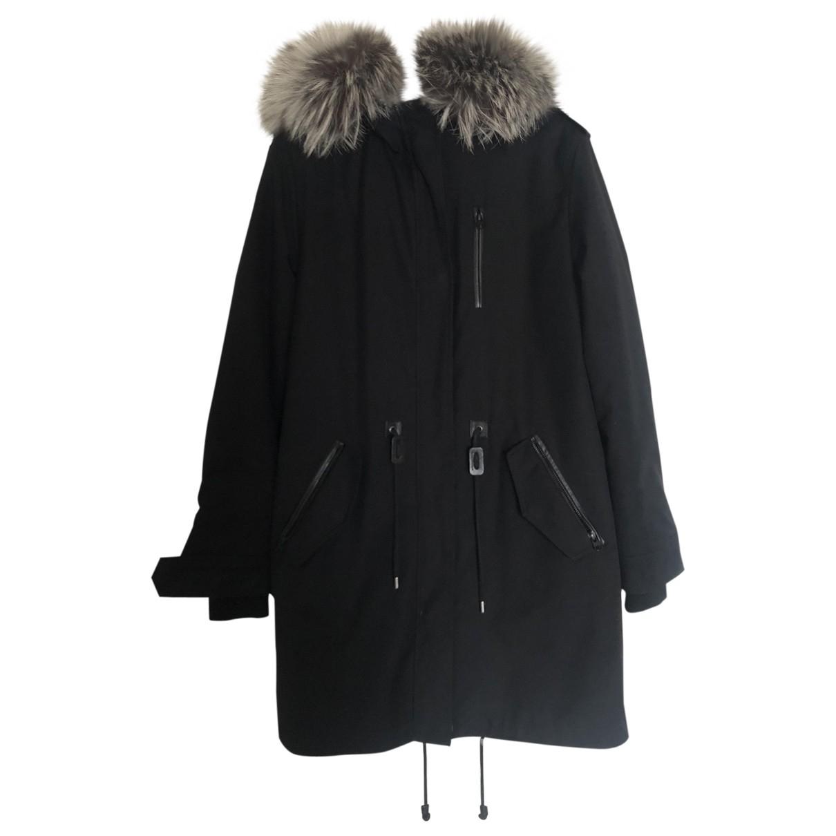 Mackage \N Black Rabbit coat for Women 38 FR