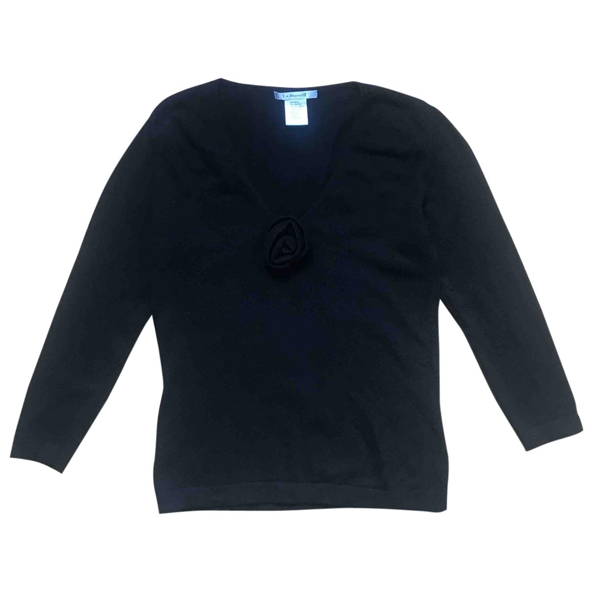 Lk Bennett - Pull   pour femme en laine - noir