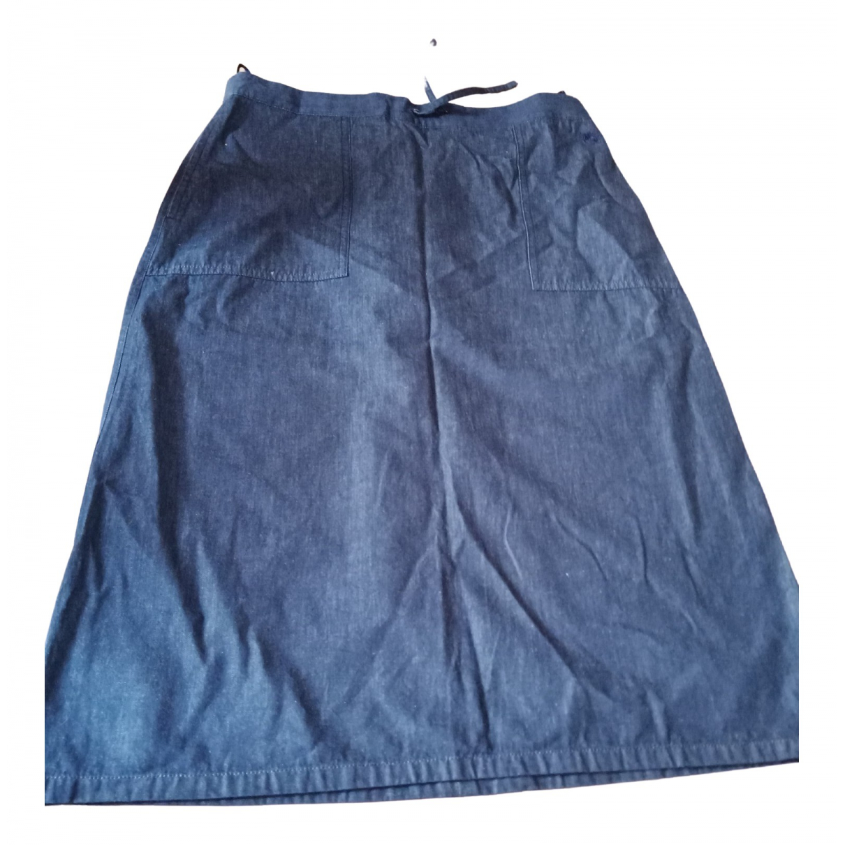 Burberry \N Navy Cotton skirt for Women 42 FR