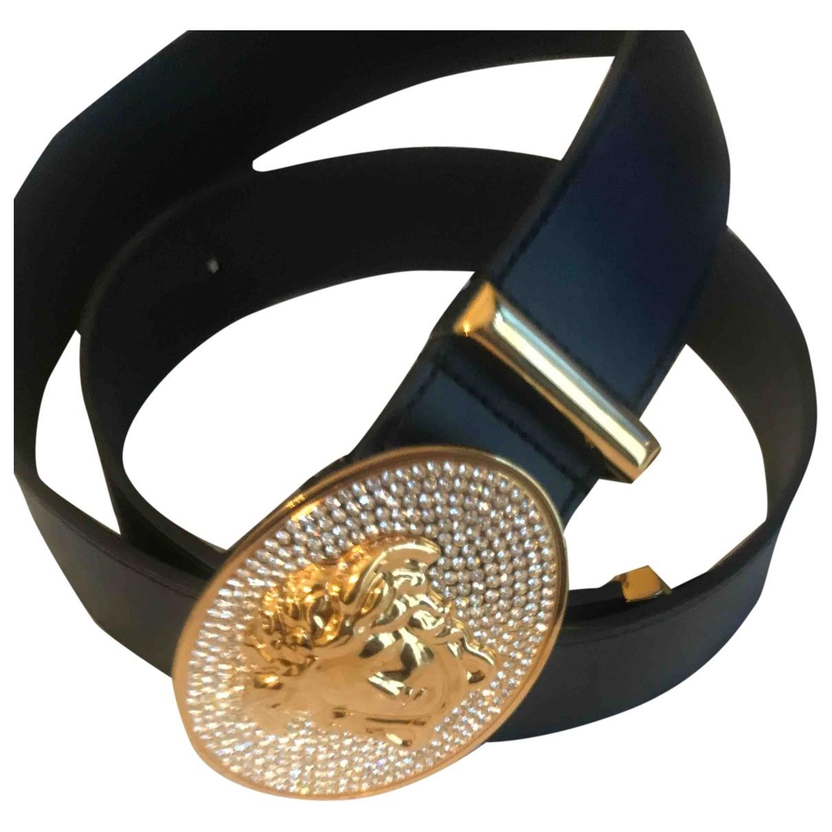 Versace \N Black Leather belt for Men XL international