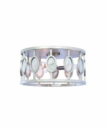 Palomar 506142VSL 3-Light Flush Mount Ceiling Light in Vintage Silver