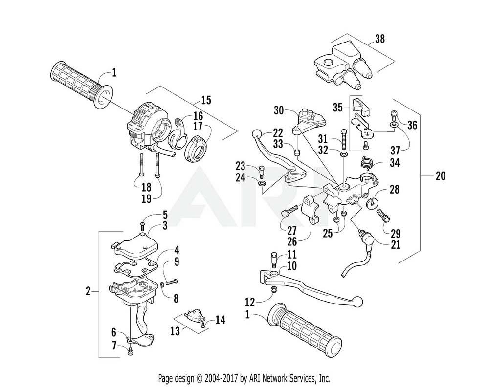 Arctic Cat OEM 3446-419 Lever Set Clutch | (Inc. 21 37)