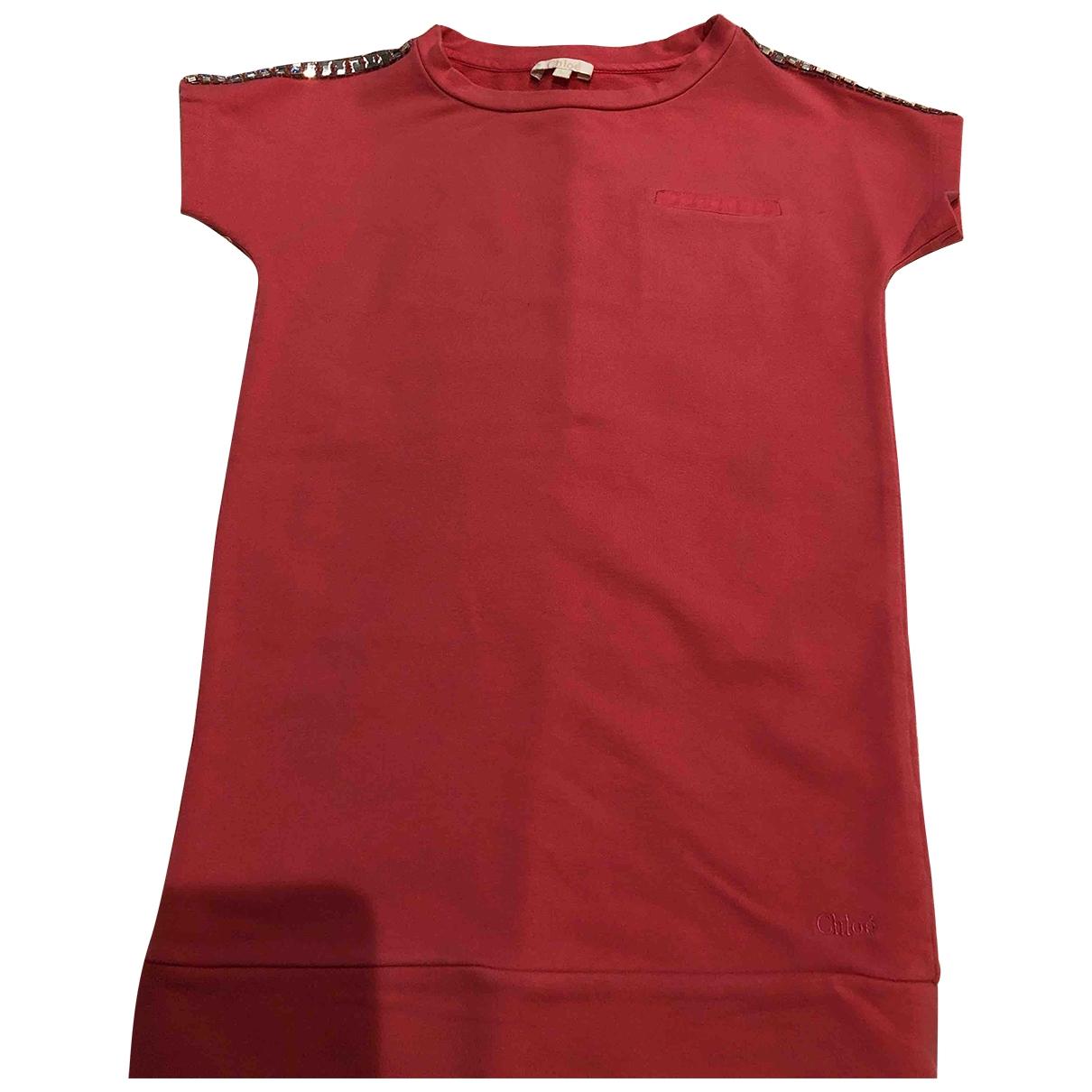 Chloe - Robe    pour enfant en coton - rose
