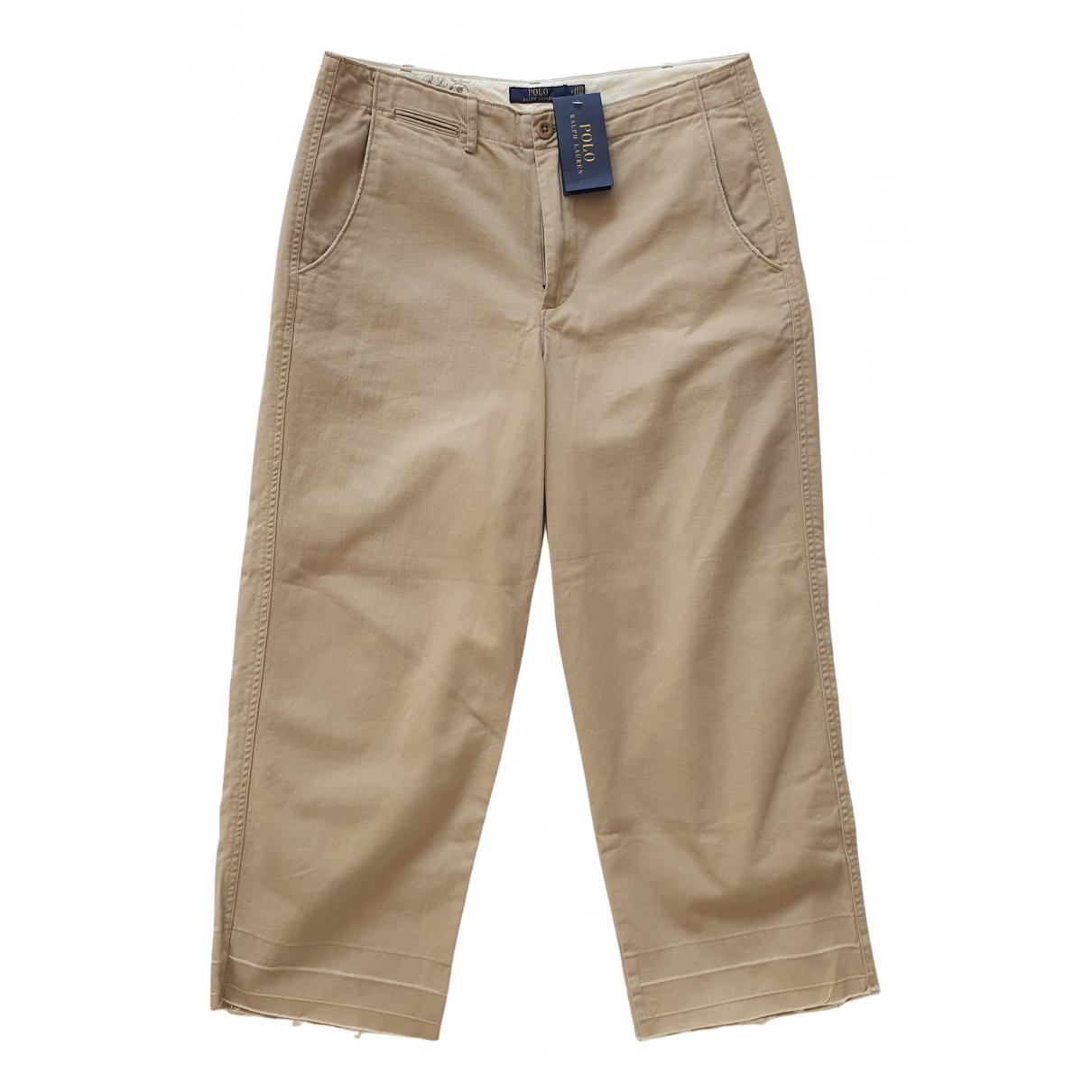 Polo Ralph Lauren - Pantalon   pour femme en coton - beige