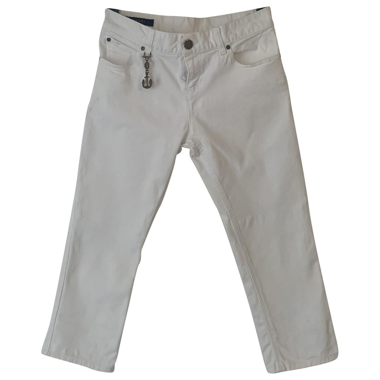 Gucci \N White Cotton - elasthane Jeans for Women 42 FR
