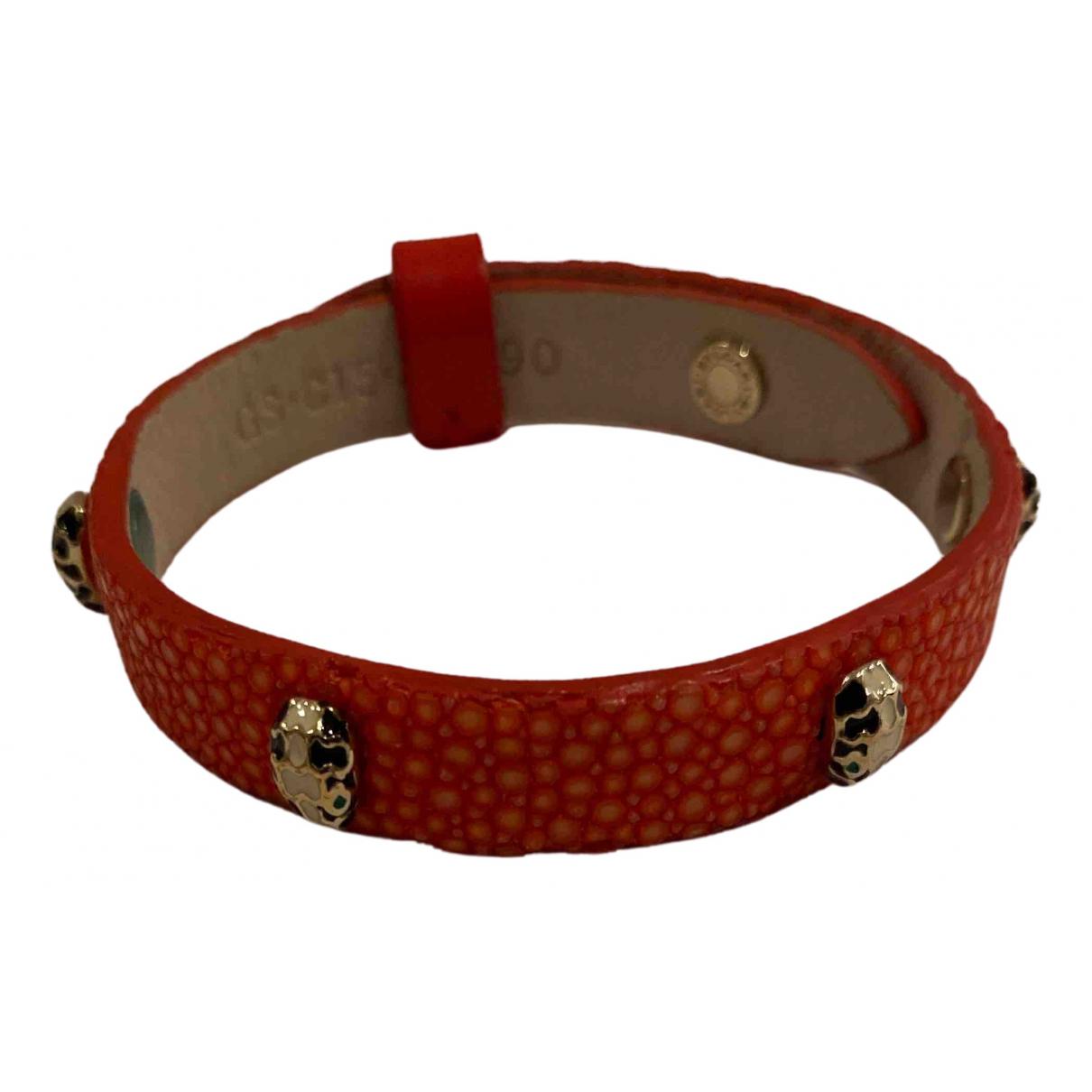 Bvlgari - Bracelet Serpenti pour femme en cuir exotique - rouge
