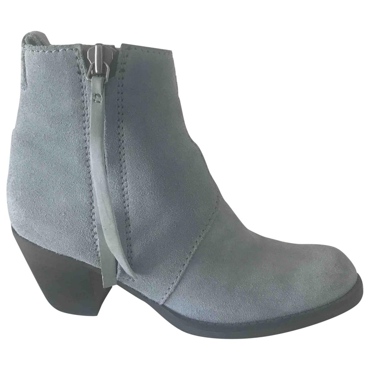 Acne Studios - Boots Pistol pour femme en suede - bleu