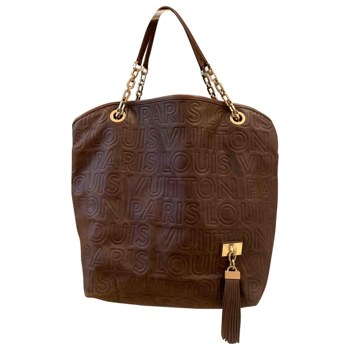 Louis Vuitton - Sac a main Whisper pour femme en cuir - marron