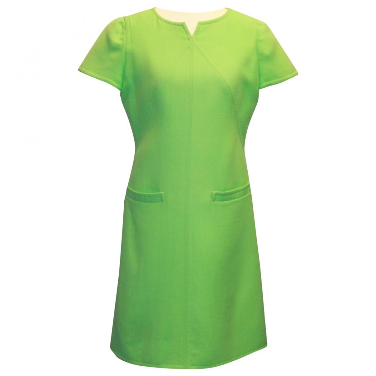 Courreges \N Kleid in  Gruen Wolle