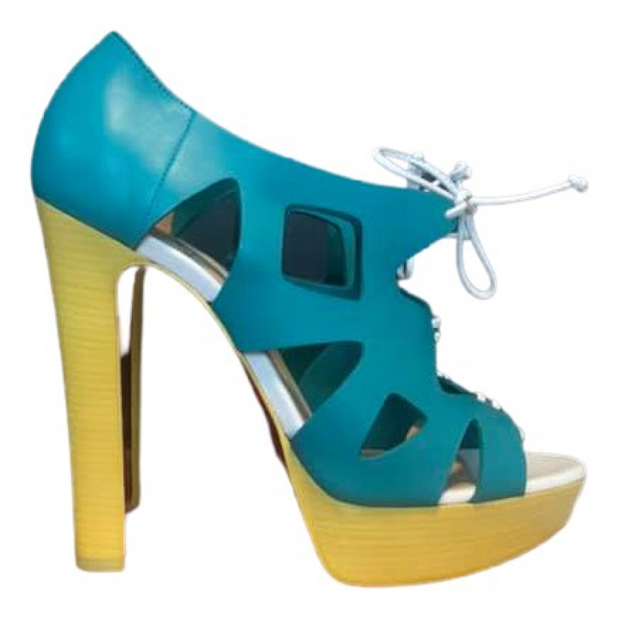 Christian Louboutin \N Blue Leather Sandals for Women 38.5 EU