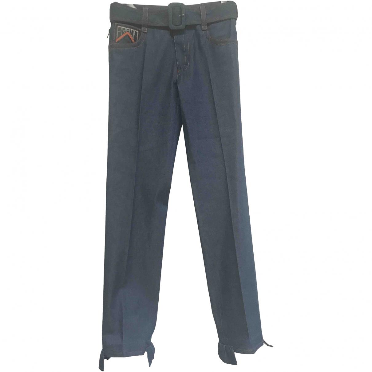 Prada \N Blue Denim - Jeans Jeans for Women 38 FR