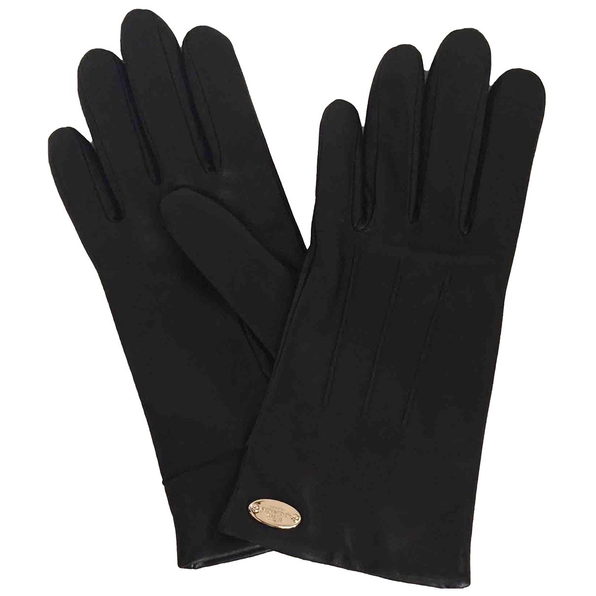 Coach \N Black Leather Gloves for Women S International