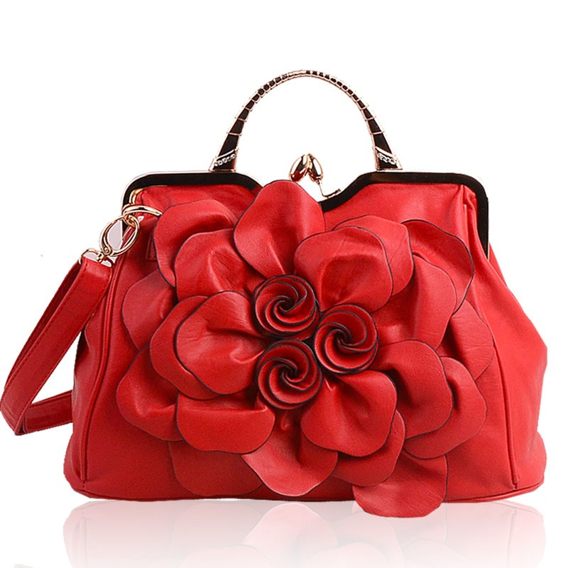 Ericdress All Match Rose Decorated Handbag