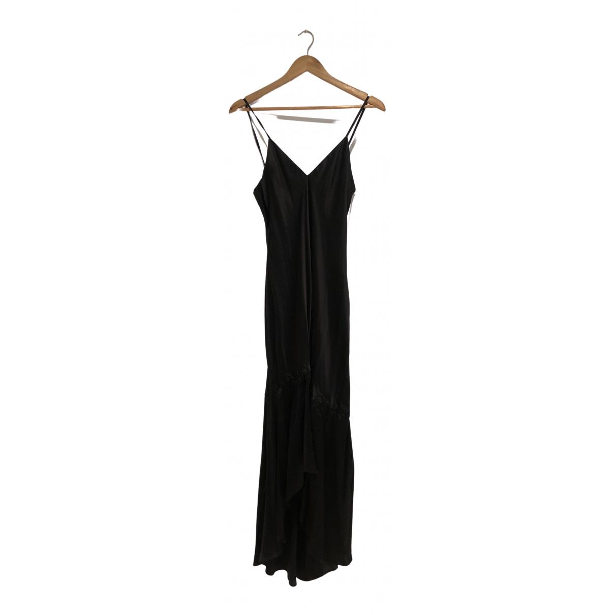 Non Signé / Unsigned \N Black Silk dress for Women 36 FR