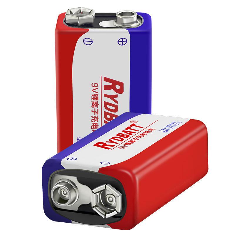 RYDBATT 9V 500mAh Rechargeable Lipo Battery