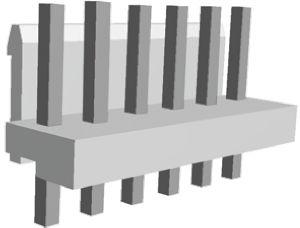 TE Connectivity , Economy Power, 6 Way, 1 Row, Straight PCB Header (5)