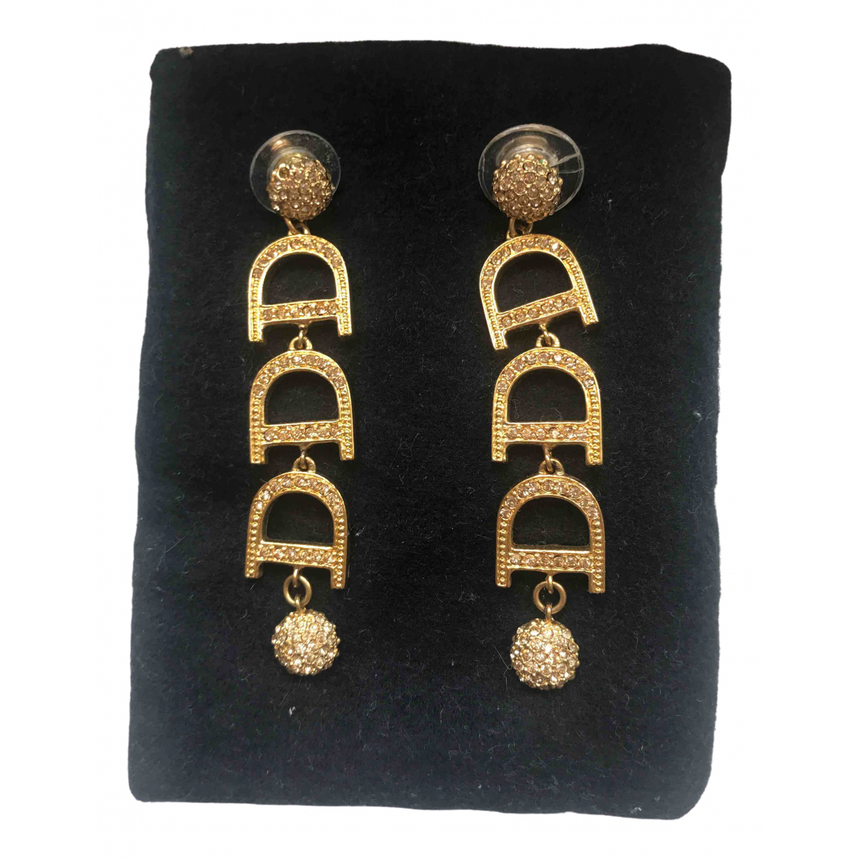 Dior Dior Oblique Gold Metal Earrings for Women \N