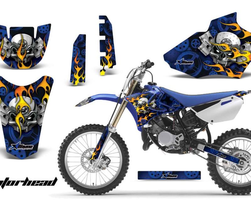 AMR Racing Dirt Bike Decal Graphics Kit MX Sticker Wrap For Yamaha YZ85 2002-2014áMOTORHEAD BLUE