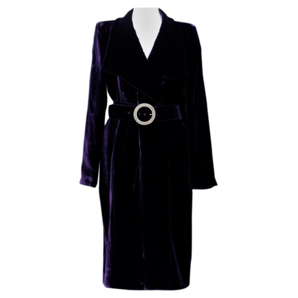 Loris Azzaro \N Purple Velvet dress for Women 44 FR