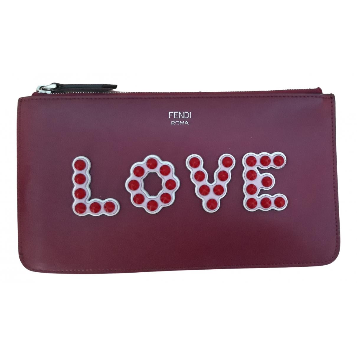 Fendi \N Burgundy Leather Clutch bag for Women \N