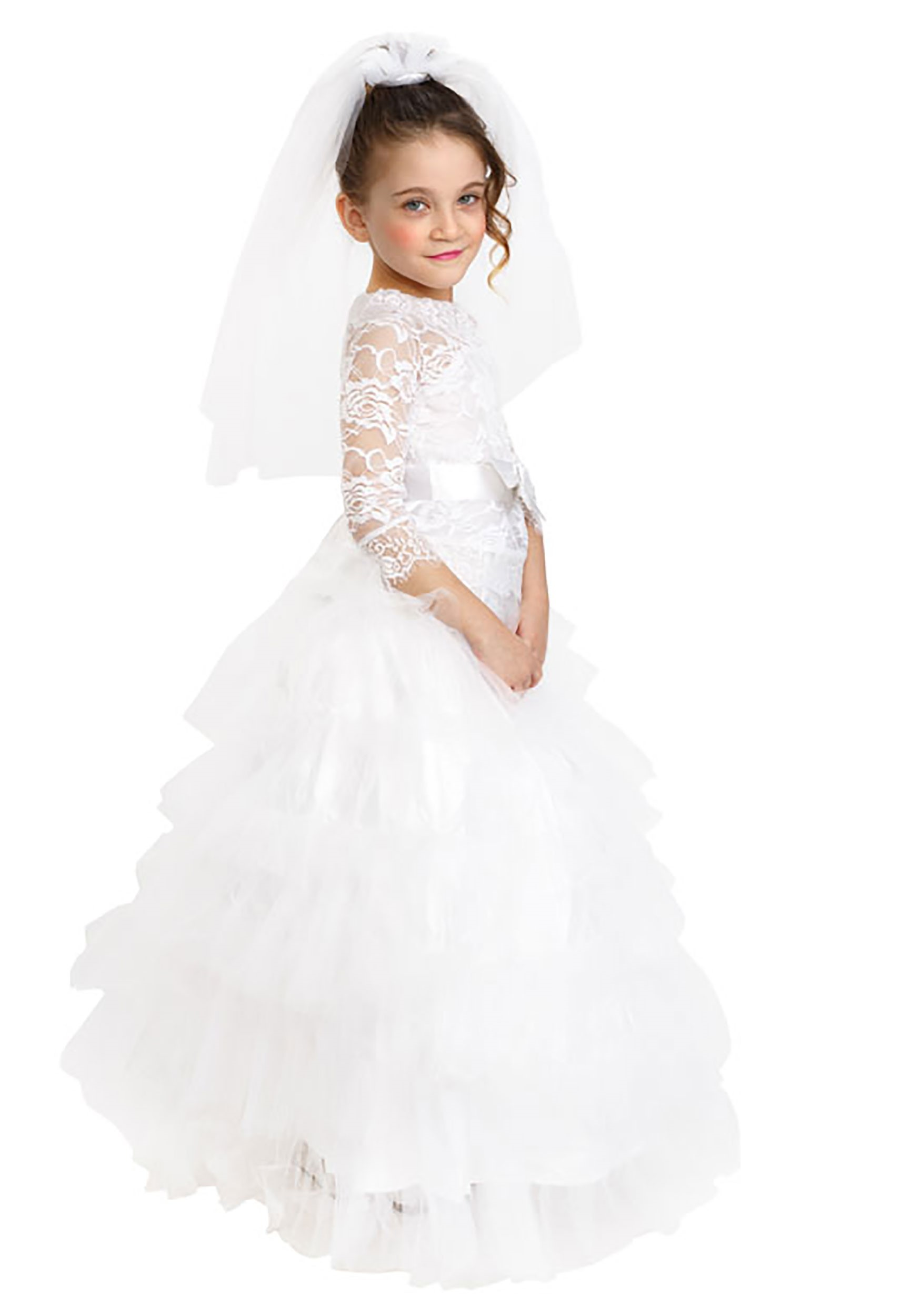 Dress Up Bride Girls Costume