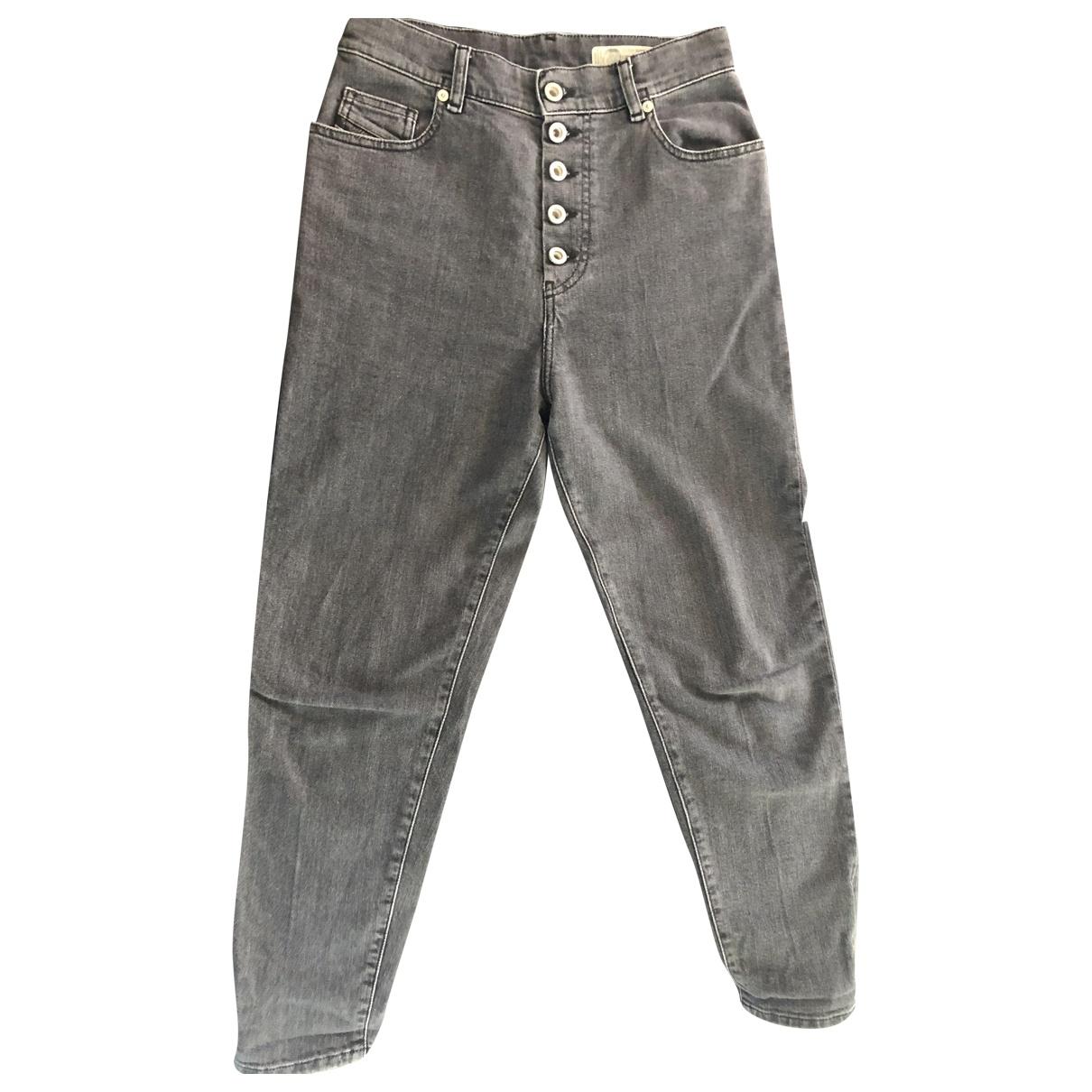 Diesel \N Grey Denim - Jeans Jeans for Women 34 FR