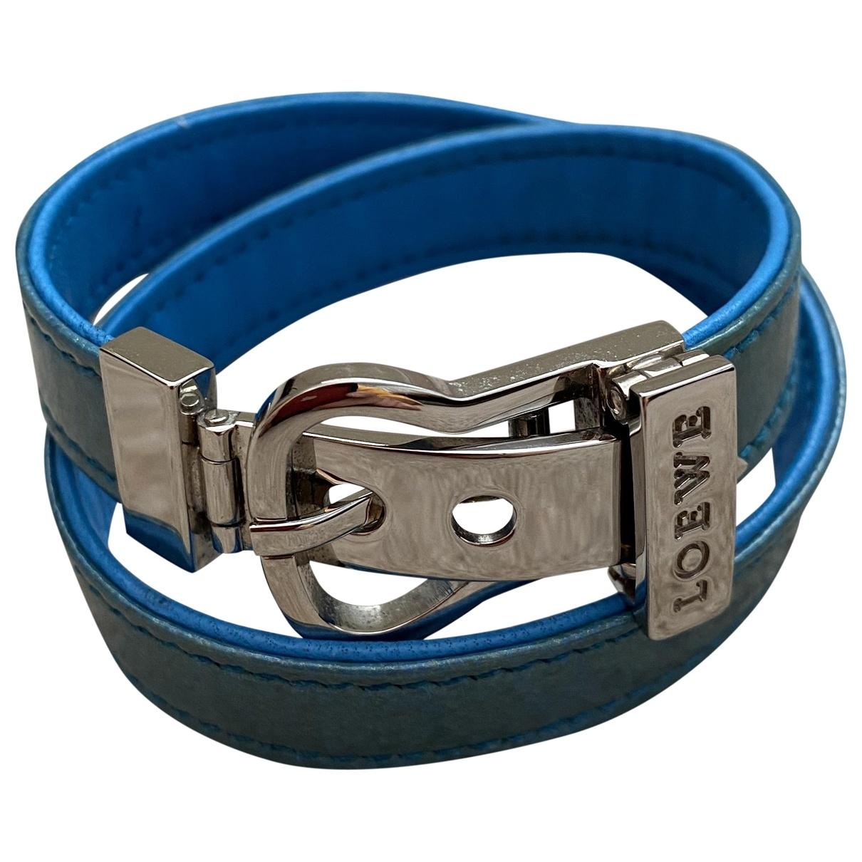 Loewe - Bracelet   pour femme en cuir verni - bleu