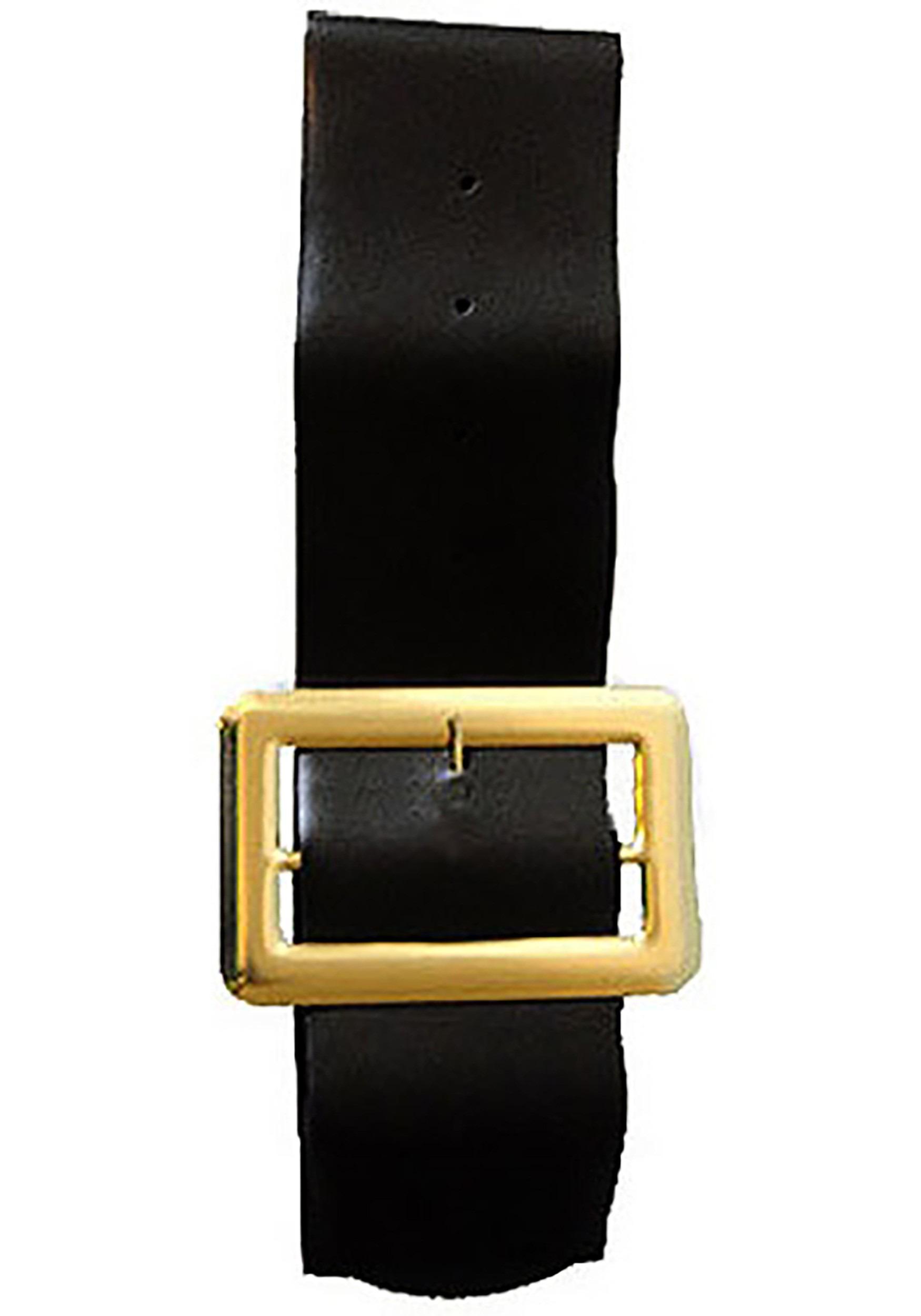 Vinyl Gold Buckle Belt