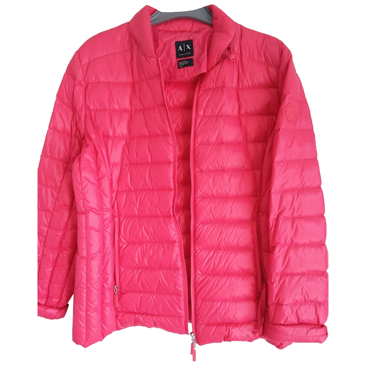 Emporio Armani \N Red Leather jacket for Women 40 IT
