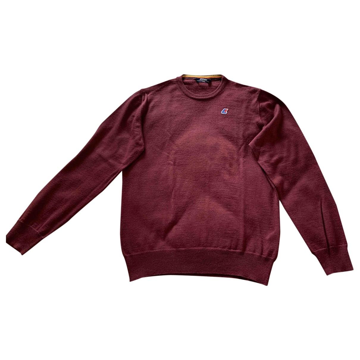 K-way \N Pullover.Westen.Sweatshirts  in  Bordeauxrot Synthetik