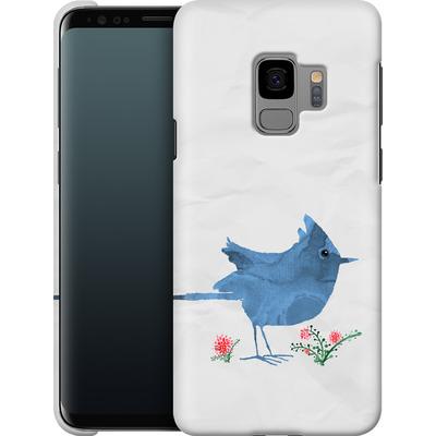 Samsung Galaxy S9 Smartphone Huelle - Watercolour Bird White von caseable Designs