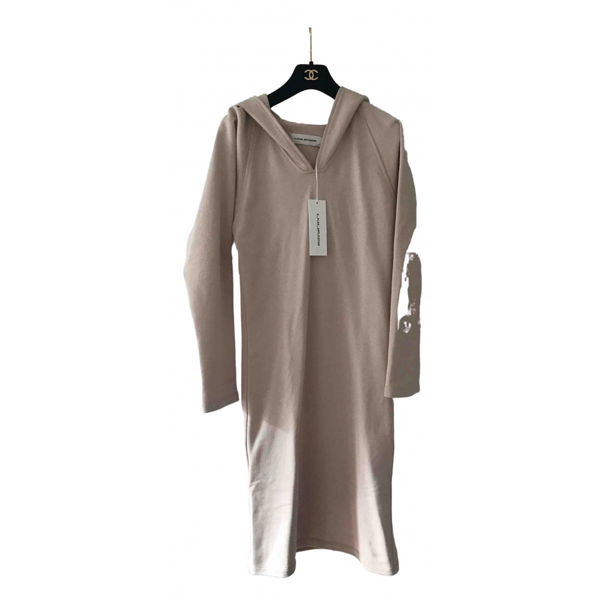 Non Signé / Unsigned \N Beige Cotton dress for Women 34 FR