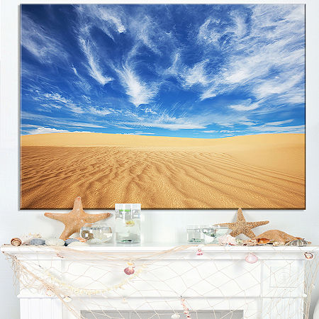 Designart Desert With Exotic Blue Sky Over Canvas Art, One Size , Blue