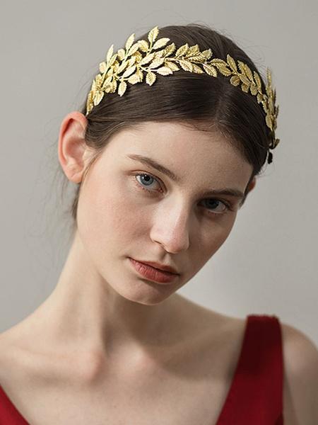 Milanoo Gold Tiara Crown Wedding Headpieces Bridal Hair Accessories