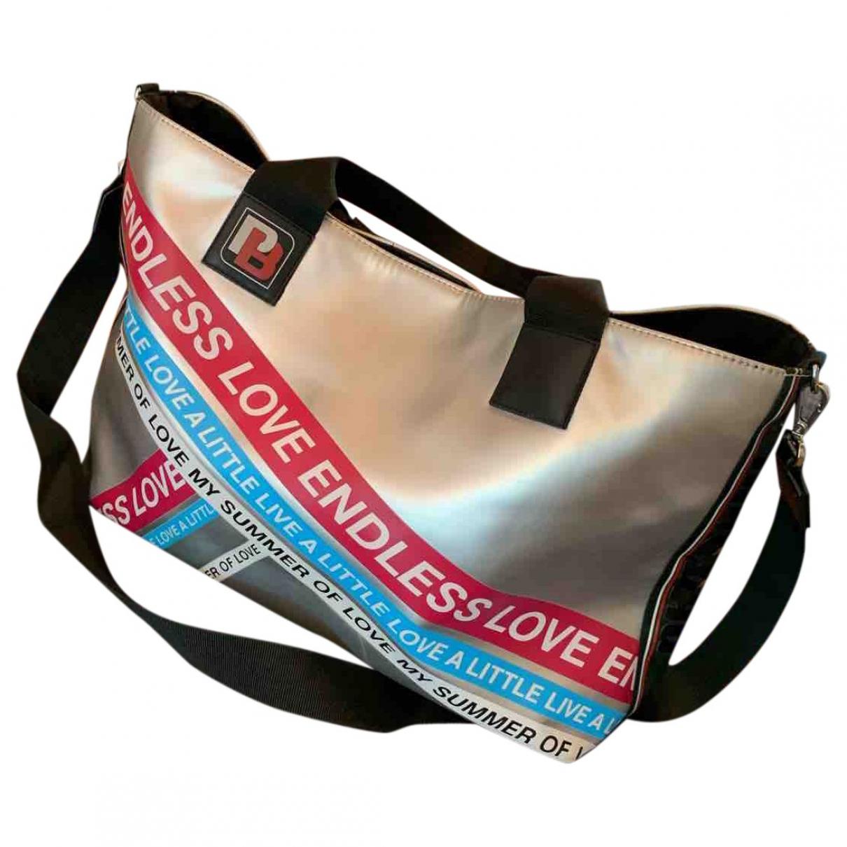 Pinko \N Silver Cloth handbag for Women \N