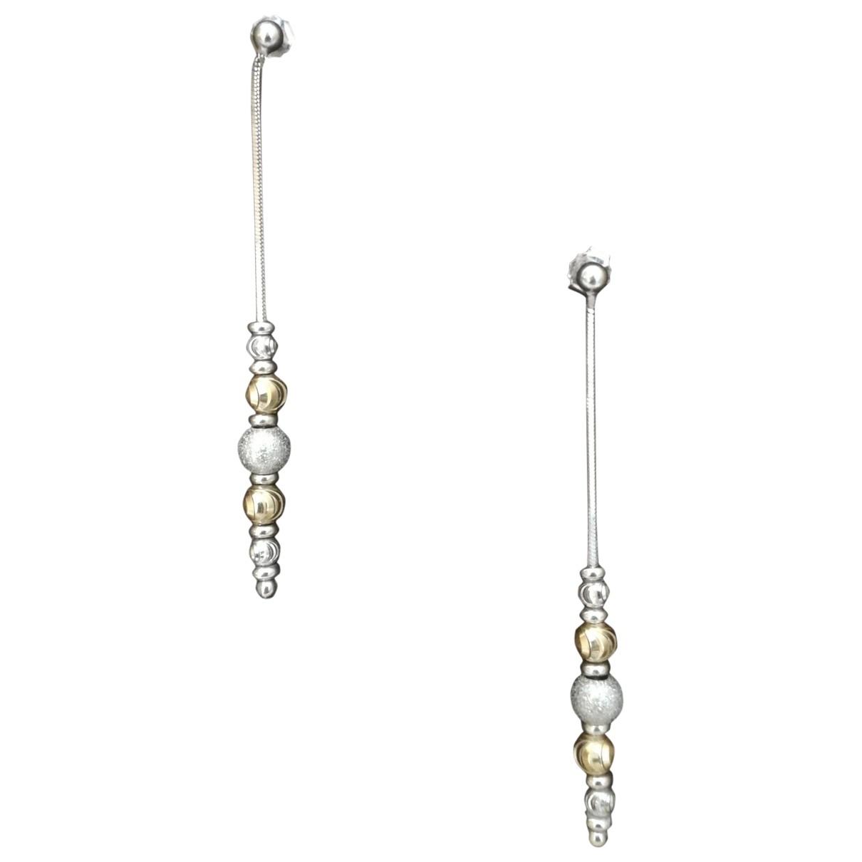 - Boucles d'oreilles   pour femme en or blanc - argente