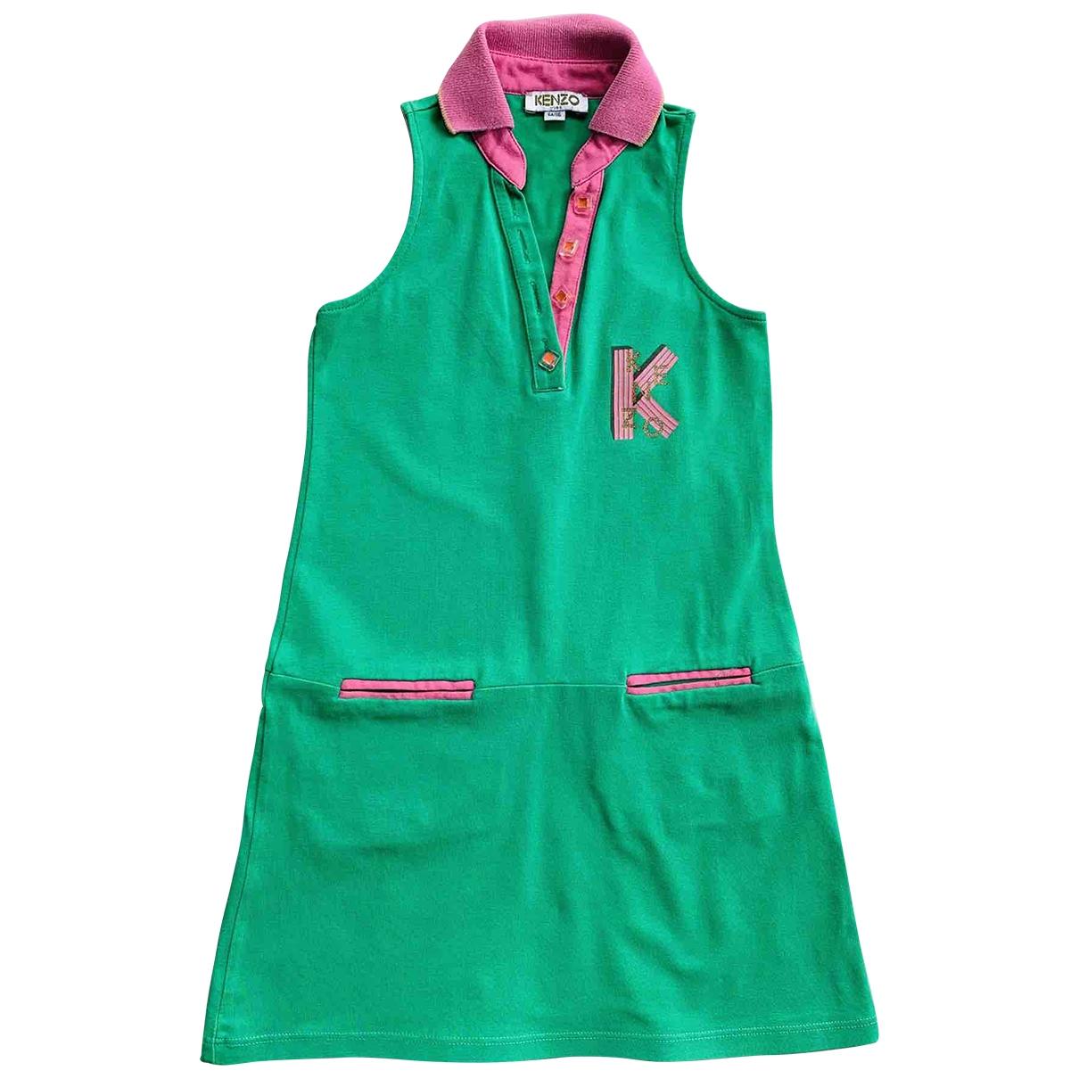 Kenzo \N Kleid in  Gruen Baumwolle