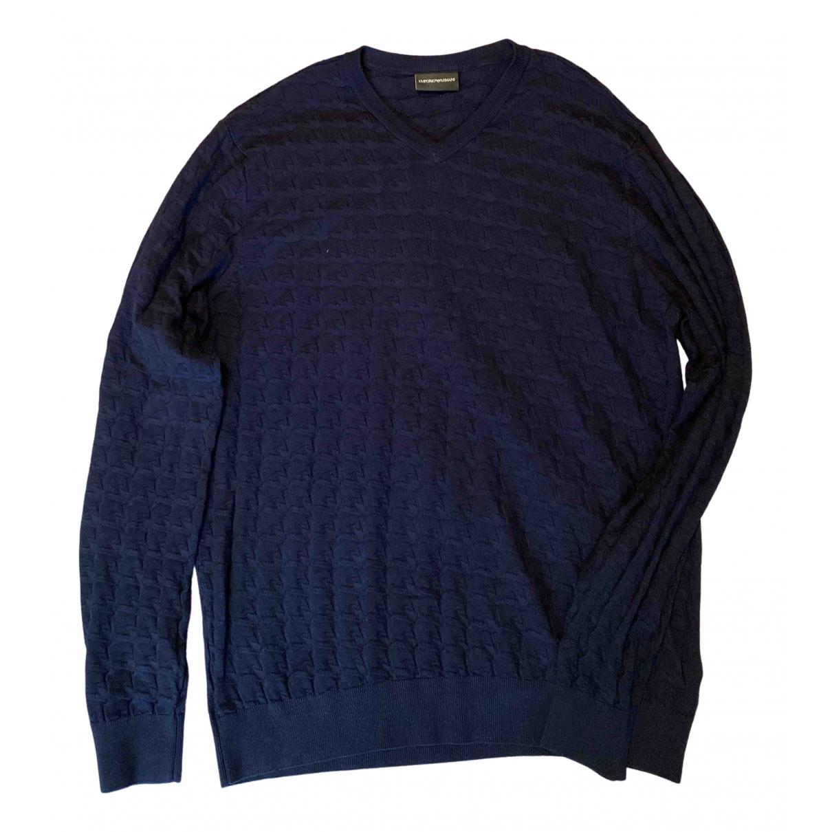 Emporio Armani - Pulls.Gilets.Sweats   pour homme - bleu