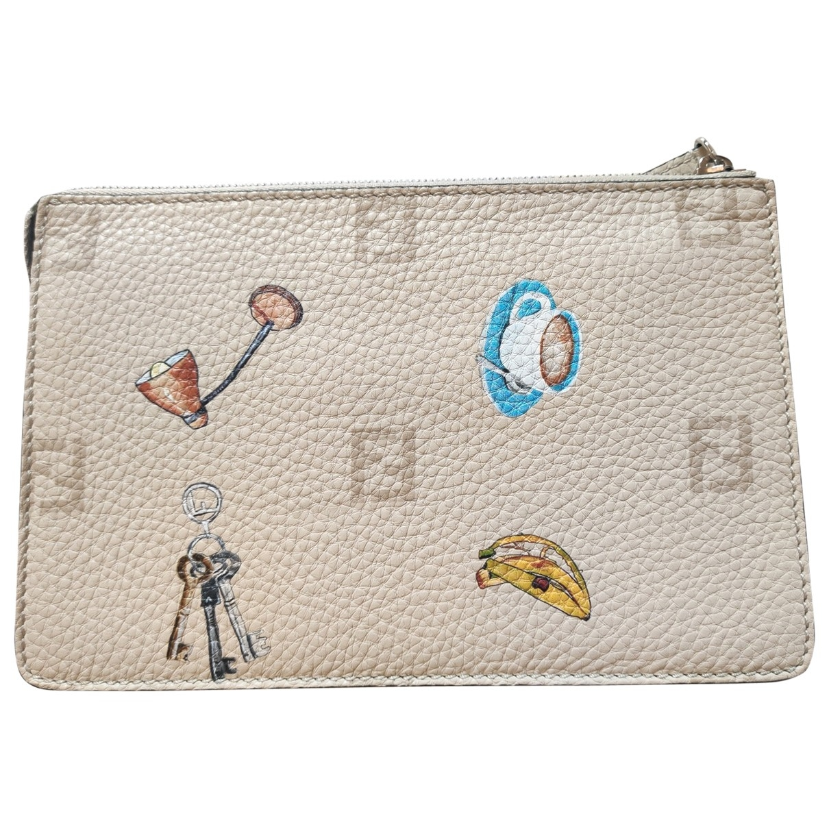 Fendi \N Clutch in  Bunt Leder